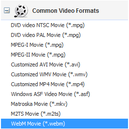 convert and rip DVD to WebM